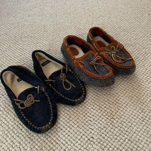 Lands End Boys Slippers 🌙 🛌 🏡 Sizes 2 and 3